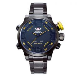 Epozz Stainless Steel Water Resistant Sports Watch - Yellow