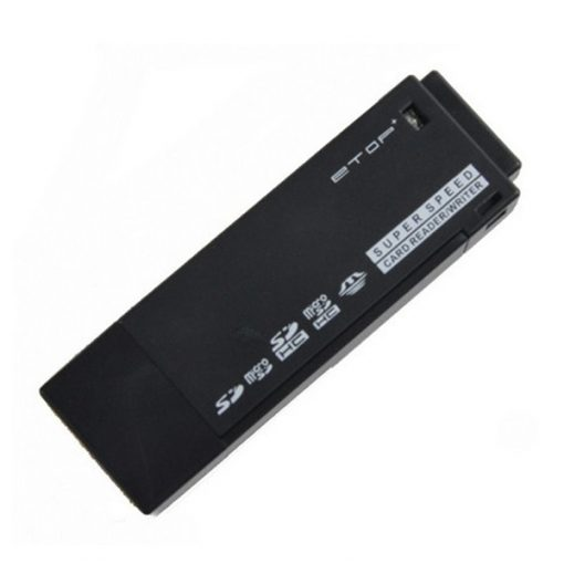 ETOP-U3-02 Super Speed USB 3.0 Micro SD / TF / MS / M2 Card Reader (Max. 64GB) - Black