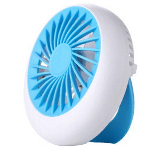 Rechargeable USB Mini Handheld Fan - Blue