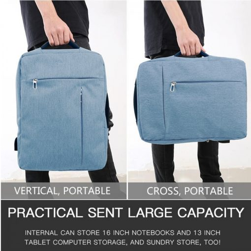 KELOE B01 Multifunction Water Resistant 15 Inch Laptop Backpack With USB Charger - Blue