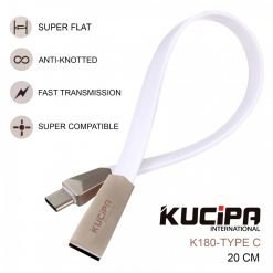 Kucipa K180 TYPE C 20 CM Fast Charging and Data Cable - White