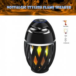 Nostalgic Stylish Flame Atmosphere Speaker - Black