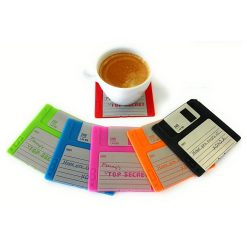 1.44 mb Disk Coaster Set Of 6 - Multicolor