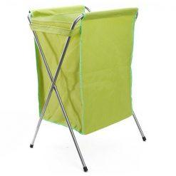 Foldable Metal Tube Laundry Basket - Green