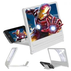 Foldable Mobile Phone Screen Magnifier - White