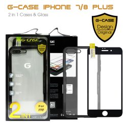 G-Case 2 in 1 Case and Glass Phone Protection for Iphone 7/8 Plus - Black