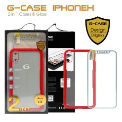 G-Case 2 in 1 Case and Glass Phone Protection for Iphone X - Red