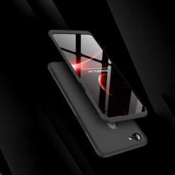GKK Oppo F7 360 Full Protection Case - Black