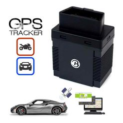 GSM GPS OBDII Interface Vehicle Tracker - Black