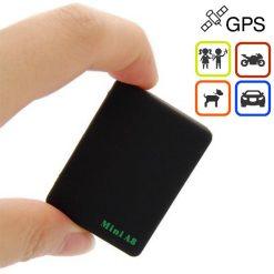 Mini A8 Global Real Time Surveillance GPS Tracker - Black