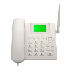 GSM FWP Wireless Landline Mobile Phone with FM Radio - White