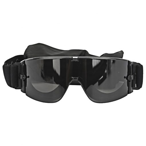 Anti Fog Tactical Shooting Goggle System - Black
