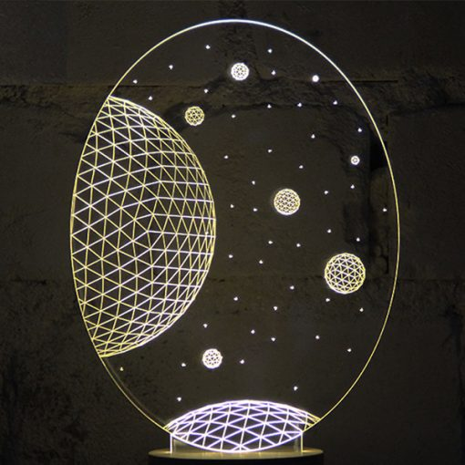 3D LED Light Galaxy Shaped Table Lamp