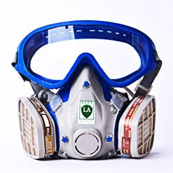 Gas Mask with Full Face Chemical Protective Mask - Blue