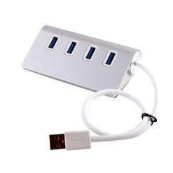 4 Port USB 3.0 Hub - Silver