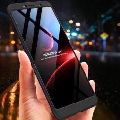 GKK Nokia 7 Plus 360 Full Protection Case - Black