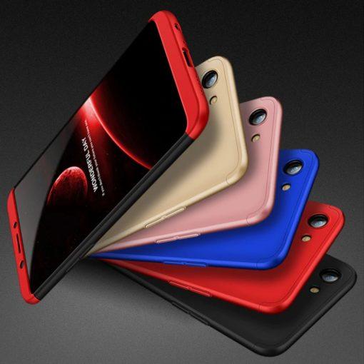 GKK Oppo A83 360 Full Protection Case - Red