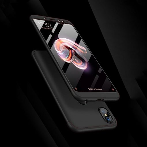 GKK Huawei Nova 3e P20 Lite 360 Full Protection Case - Black