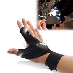 GloveLite Hands Free LED Flashlight Gloves - Black