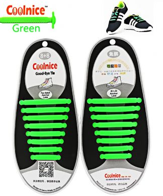 No Tie Silicone Shoelaces Size For Adult - Green