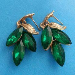 Green Leaf Earring - Green