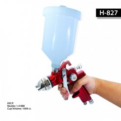 HVLP 1.4 mm Gravity Pressured Paint Spray Gun - Red