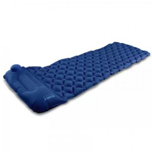Romix RH48 Foldable Travel Hand Pressed Inflatable Cushion Sleeping Bag – Dark Blue