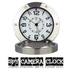 Clock Watch Hidden Camera DVR Camcorder - Silver