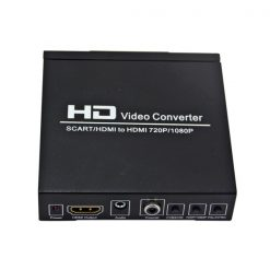 HD Video Converter Scart +HDMI to HDMI - Black