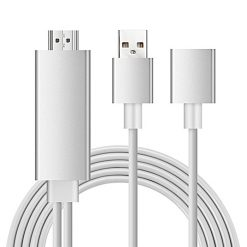 3 in 1 USB to 8Pin HDMI HD Mirroring Cable  - Silver