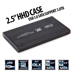 "2.5"" SATA HDD External Hard Case USB 3.0 - Black"