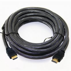 10 Meters Nylon Braid HDMI To HDMI Cable - Black