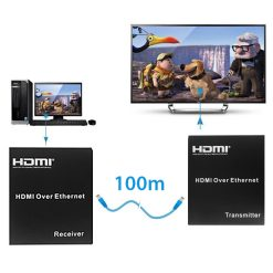100 Meter HDMI Extender Over Cat 6 - Black