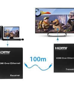 100 Meter HDMI Extender Over Cat 6 - Black