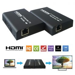 HDMI Extender Over CAT5/6  100 Meters With IR Remote Control Support - Black