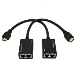 HDMI Extender 30 Meters By Cat-5e/6 Cable - Black