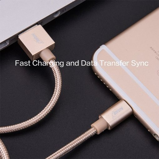 HAME MF01 Power and Sync Lightning USB Cable - Rose Gold