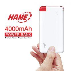 Hame T5 4000 Mah Portable Power Bank - Red