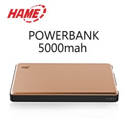 Hame P49 5000 mah Dual Input Power Bank - Gold