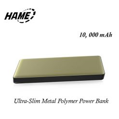 Hame P50 10000 mAh Ultra-slim Metal Quick Charge Polymer Powerbank - Gold