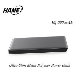 Hame P50 10000 mAh Ultra-slim Metal Quick Charge Polymer Powerbank - Gray