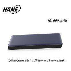 Hame P50 10000 mAh Ultra-slim Metal Quick Charge Polymer Powerbank - Navy Blue