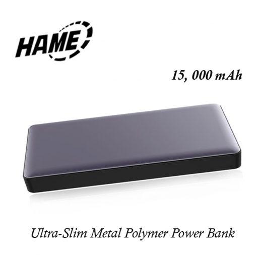 Hame P51L 15000 mAh QC3.0  Metal Finish Polymer Powerbank With Lighning Input - Navy Blue