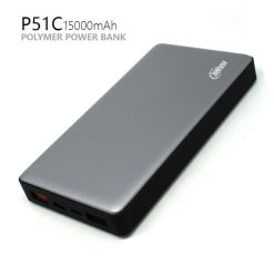 HAME P51C 15000 MAH QC3.0 Slim Polymer Powerbank With Type-C And Micro Input - GRAY