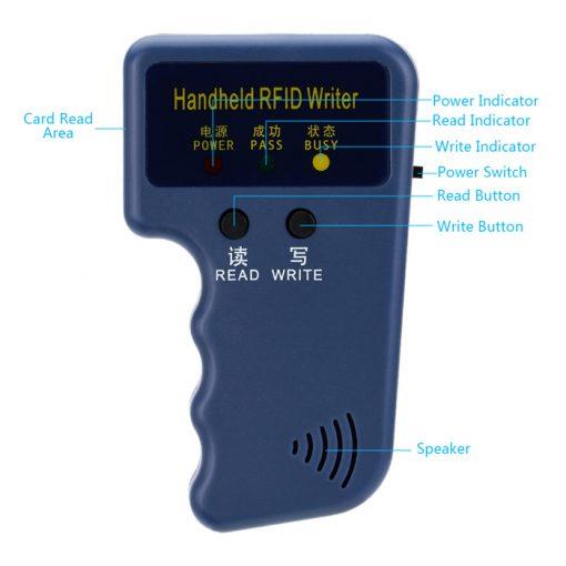 125Khz Handheld RFID Reader and Writer - Blue