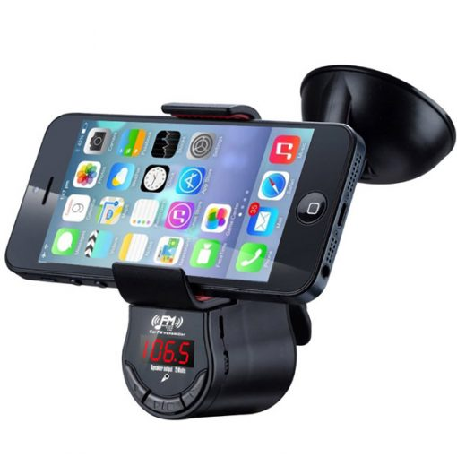 Handsfree Car FM Transmitter with Universal Holder