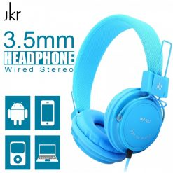 JKR-101 3.5mm Wired Stereo Headphone - Blue