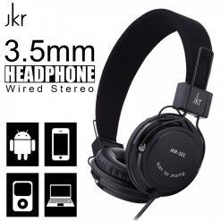 JKR-101 3.5mm Wired Stereo Headphone - Black