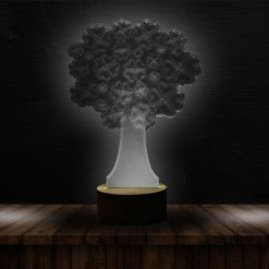 3D LED Light Tree Heart Shaped Table Lamp