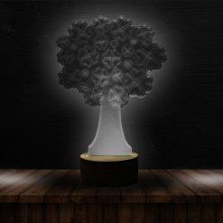 3D LED Light Tree Heart Shaped Table Lamp